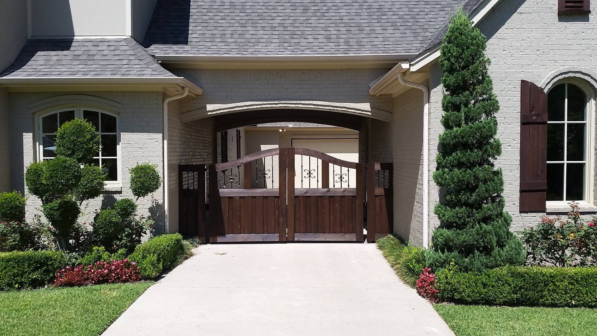 new driveway gate project & Titan Doors u0026 Gates | Southlake TX (817) 769-6565